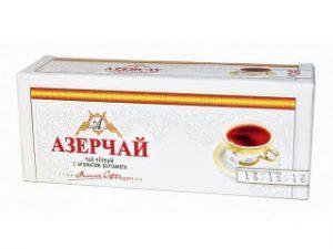 Чай Азерчай зеленый с чабрецом 25 пакетиков